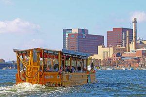 Duckboat in the harbor